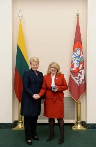 Dalia Grybauskaitė and Cindy Pasky